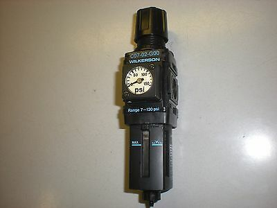 "Wilkerson C07-02-G00 Pneumatic Filter Regulator with Gauge - 1/4"" NPT"
