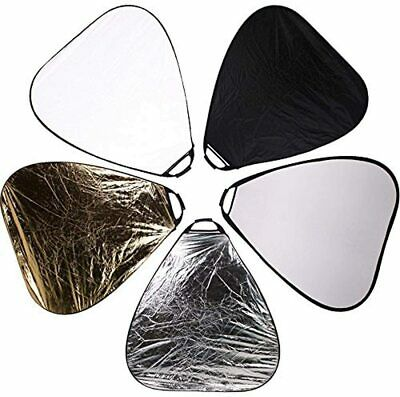 Photo Studio 24 Inch 2 in 1 Collapsible Multi Disc Reflector, Gold / Silver