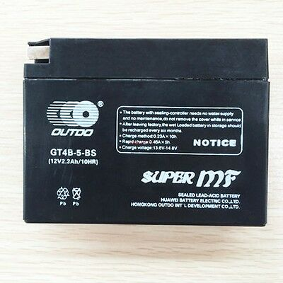 GT4B-BS AGM New Motorcycle Battery for TTR50E Suzuki DR-Z70 Yamaha SR400