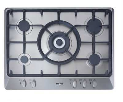 Stoves SGH700C Built In 68cm 5 Burners Gas Hob Stainless Steel New from AO