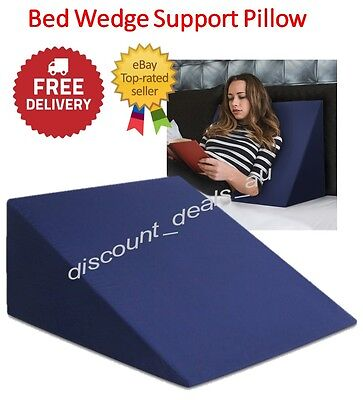 Wedge Pillow Elevated Bed Support Cushion Memory Foam Reflux Back Leg Reading