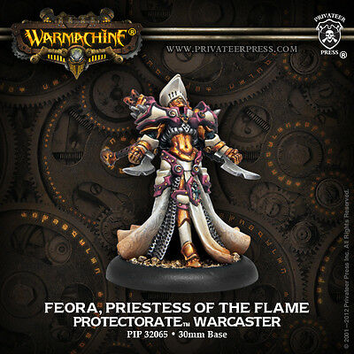 Warmachine Menoth Warcaster Feora Priestess of the Flame
