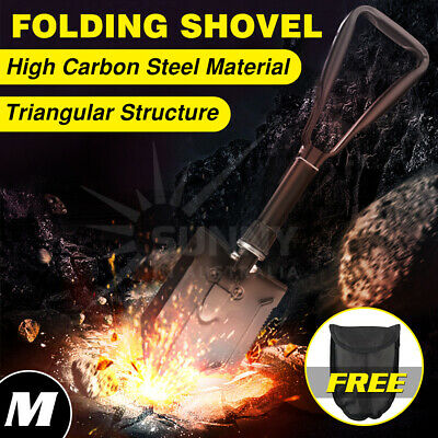 Folding Shovel D-Handle Military Entrenching Tool Survival Gear Camping Hiking