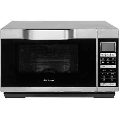 Sharp Microwave R861SLM 1000 Watt Microwave Free Standing Silver New from AO