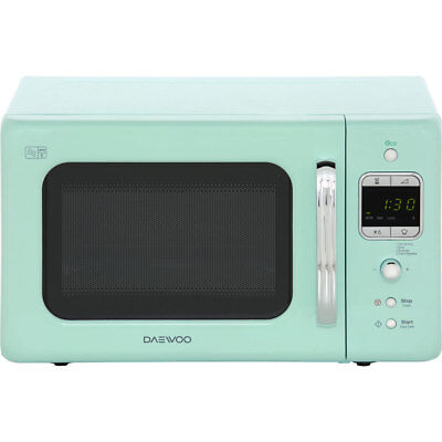 Daewoo KOR7LBKM Retro Style 800 Watt Microwave Free Standing Mint New from AO