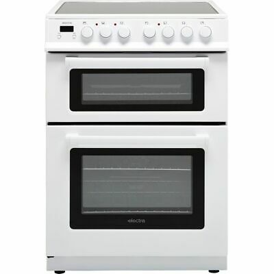 Electra TCR60W Free Standing Electric Cooker with Ceramic Hob 60cm White New