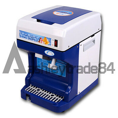 NEW Commercial Electric Ice Shaver Ice Crusher Snow Cone Machine Ice Maker 220V