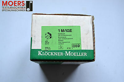 Moeller Type: 1M/ IGE Empty Box with Contact Element (Yellow) / NEW/OVP