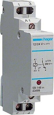Hager Interface-Relais 12/24V,5A,1Wechsler EN145
