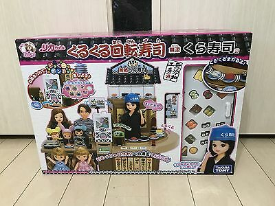 Licca Doll Rika-chan Kaiten Round Sushi Restaurant Toy New Japan Free Shipping