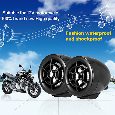Black Motorcycle Alarm Guard FM Radio Audio Anti-theft MP3 Player Mobile Charger