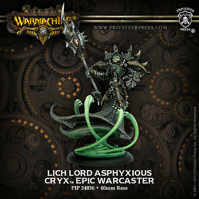Warmachine Cryx Epic Warcaster Lich Lord Asphyxious