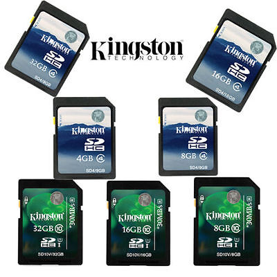 4GB 8GB 16GB 32GB Kingston SD SDHC Class 4 Class10 Memory Karte fur Kameras