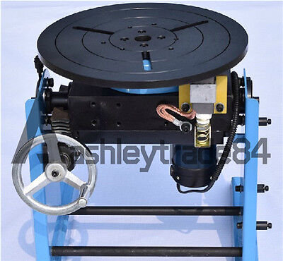 30KG Welding Positioner Turntable Timing with 300mm Chuck 110V