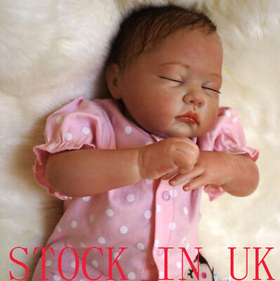 "19"" Reborn Baby dolls Newborn Baby Doll Real Life Soft silicone Gift"