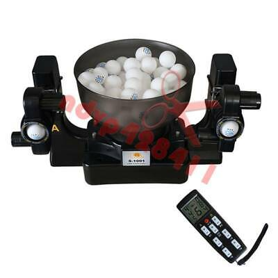 NEW Double Automatic Table Tennis Ball Machine Dual Head Table Tennis Robot 220V