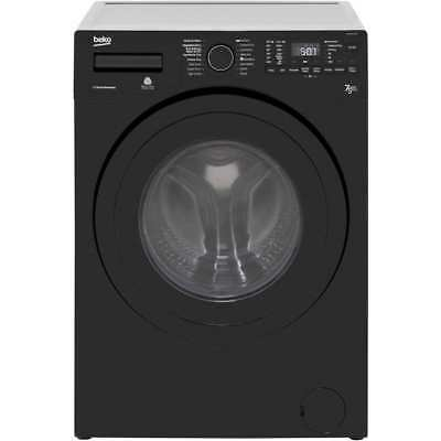 Beko WDR7543121B Free Standing 7Kg Washer Dryer Black New from AO