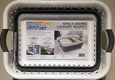 Pop & Load Space Saving Collapsible Laundry Basket - GENUINE PRODUCT - UK SELLER