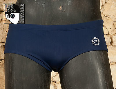 "VINTAGE 80s 'OLYMPIC' SWIMMING TRUNKS - W 30"" - 32"" - SMALL - (Q)"