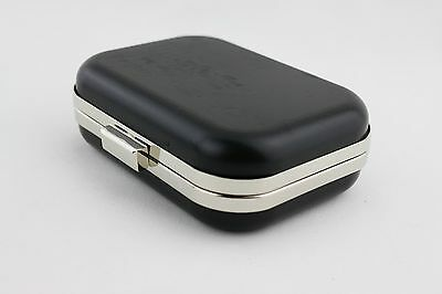 6 x 4.5 inch - Silver Clamshell Rectangle Metal Box Clutch Frame - 3 PIECES