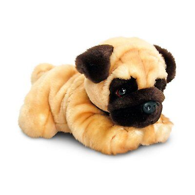 Pug Plush Soft Toy Dog 35cm, Reggie Pug Dog by Keel Toys SD5456