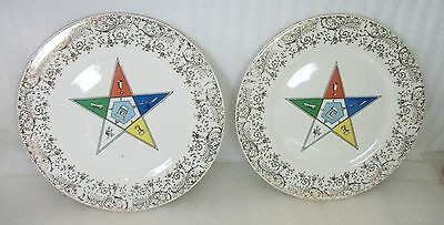 Masonic Dinnerware 2 plates China-Craft by W.S. George