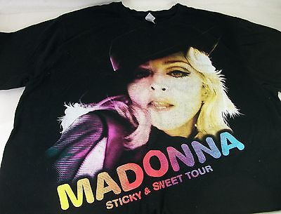 Madonna Sticky & Sweet Tour Tee Shirt size XL looks new