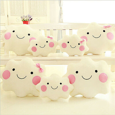 Cloud Shaped Cushion Pillow Soft Toy Baby Nursery Childrens Kids Bed Bedroom RU1