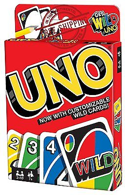 Uno Card Game Classic  Fun Family Play Cards Small Deck Wild Instructions Rules