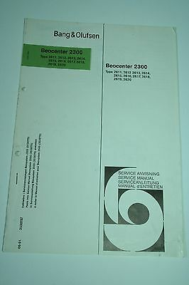 Bang & Olufsen BeoCenter 2300 Ergänzung Service Manual