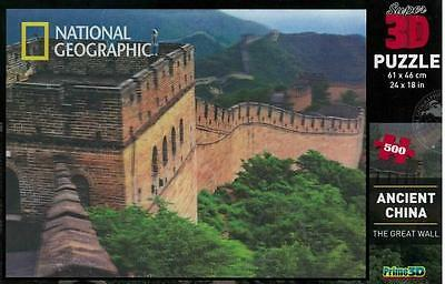 New National Geographic Ancient China The Great Wall Super 3D Puzzle 500 Piece