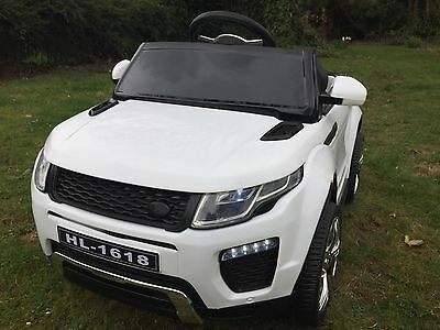 Kids Range Rover Evoque Style 12v Battery Ride On Car Electric Jeep - White