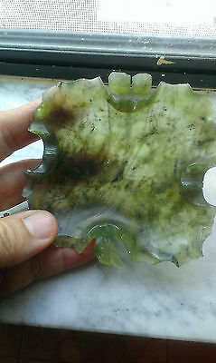 Antique Chinese Carved Jade Brush Washer Dish