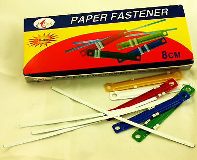 Paper File Plastic Fasteners - 3 Boxes of 50 sets in each