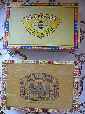 Cigar Boxes El Roi-Tan and King Edward one of each brand