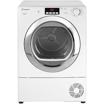 Candy GVCD91CB Grand'O Vita 9Kg Condenser Tumble Dryer White New from AO
