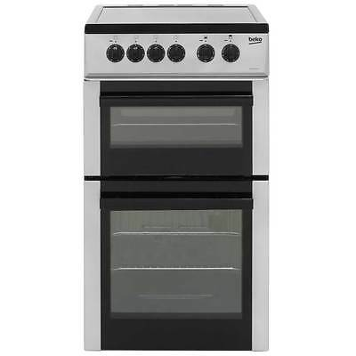 Beko BDC5422AS Free Standing Electric Cooker with Ceramic Hob 50cm Silver New