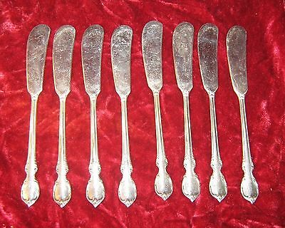 "1 - lot of 8 - 1847 Rogers Reflection 6"" Butter Knives (2017-038)"