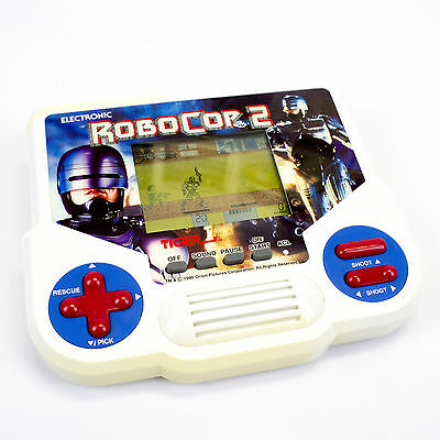 Vintage Electronic Handheld Robocop 2 LCD Video Game by Tiger, 1990