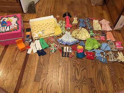 CHER BARBIE DOLL AND CLOTHS 1970's WITH TRUNK, LOTS OF CLOTHS.