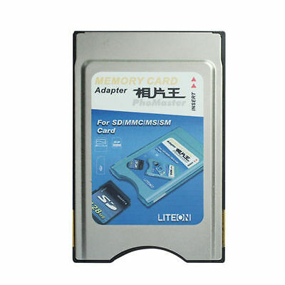 4 in 1 SD SM MMC MS Card to PC Card Adapter PCMCIA Card Adapter