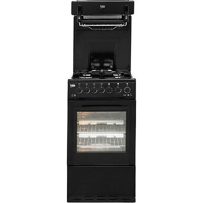Beko BA52NEK Aspen Free Standing Gas Cooker with Gas Hob 50cm Black New