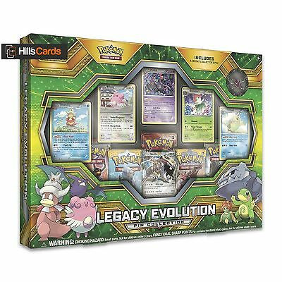 Pokemon TCG Legacy Evolution Pin Collection Box: Booster Packs + Promo Cards