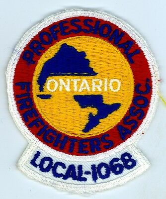 Vintage Professional Firefighters Association Local 1068 Patch Ontario ON Canada