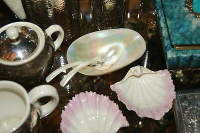 Shell Caviar Bowl with Shell Spoons