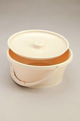 Care Quip Commode Moulded plastic Bowl Autoclavable For Sanitising Beige