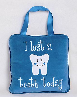 BLUE TOOTH FAIRY PILLOW BABY SHOWER GIFT FOR 5/6 YEAR OLD (Pink also available)