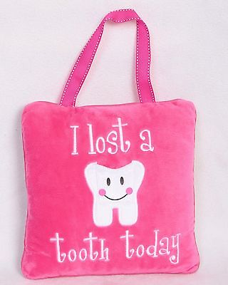 Pink Tooth Fairy Pillow Baby Shower Gift Or For 5/6 Year Old (Blue Also Avail)