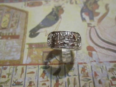 Cartouche Egyptian ring sterling Silver 925 - artisan product