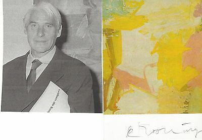 Willem De Kooning, 20th Century Leading Abstract Expressionism -- His Autograph